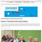 Jahreshauptversammlung Heimatgruppe Gelmer